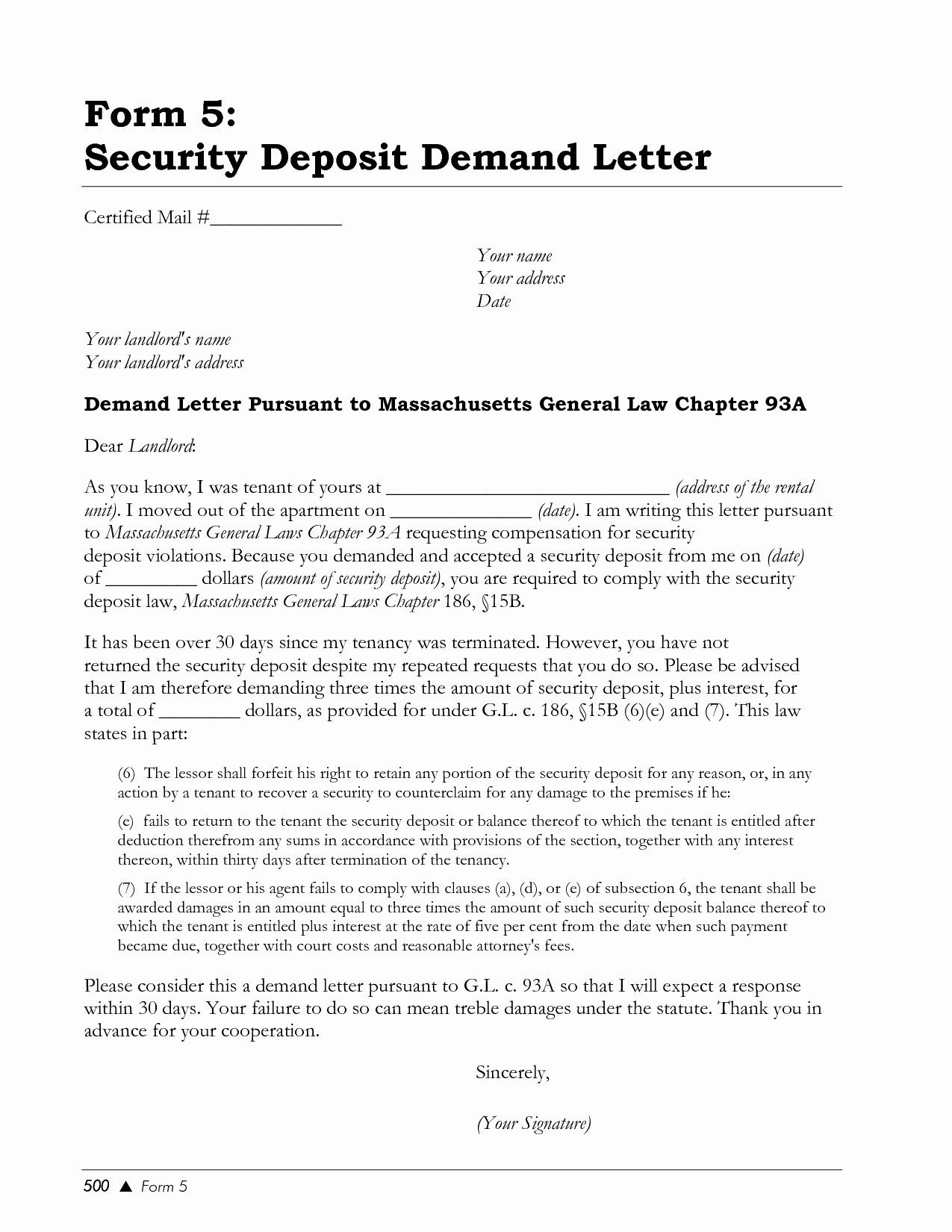 24 Security Deposit Refund Letter Template in 2020 (With