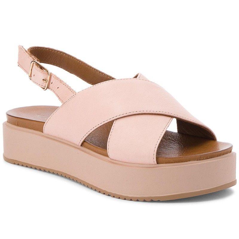 Sandaly Inuovo 8726 Blush Koturny Klapki I Sandaly Damskie Www Eobuwie Com Pl Shoes Sandals Blush