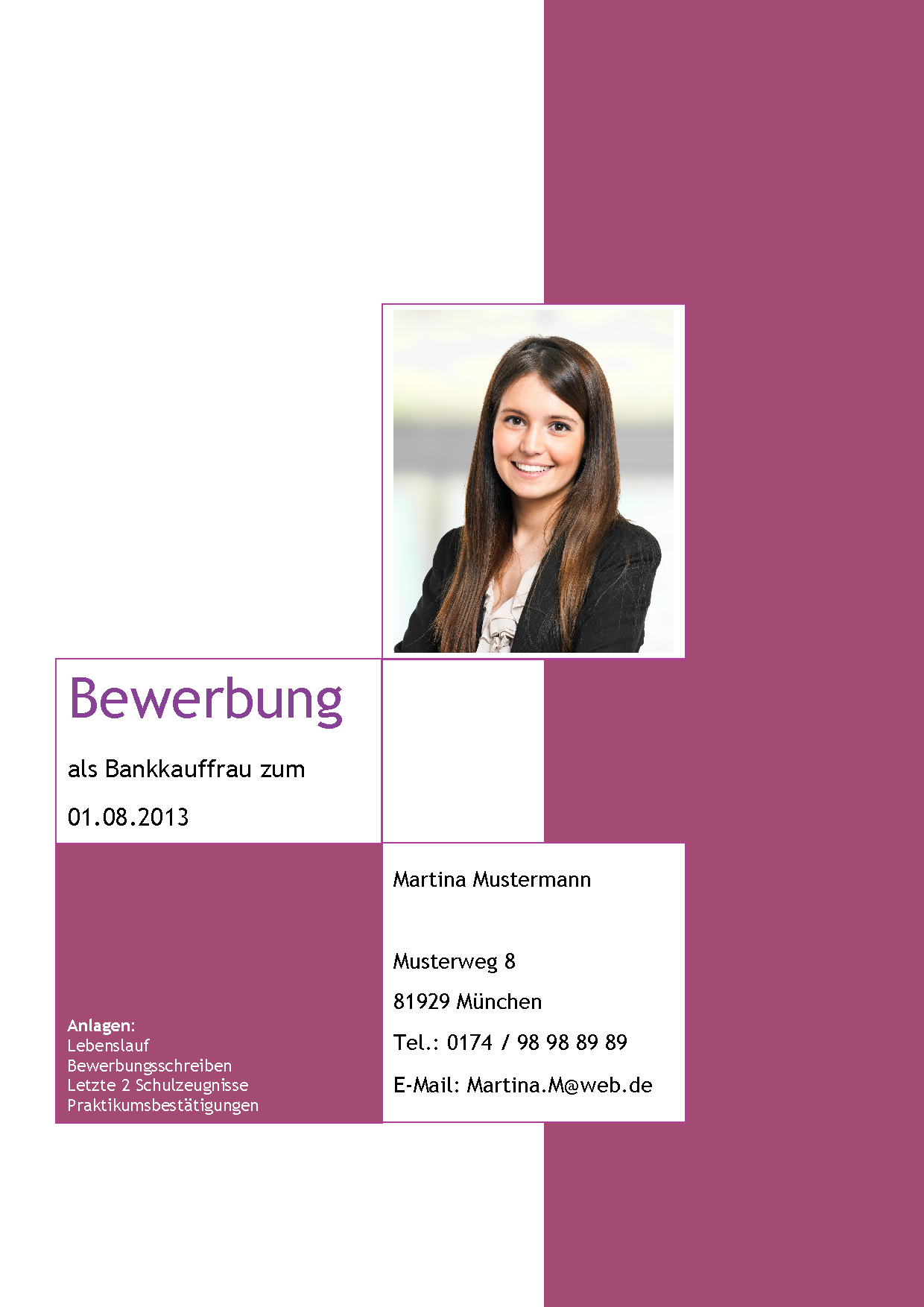 Bewerbung Deckblatt Muster | business women - Ideas | Pinterest ...