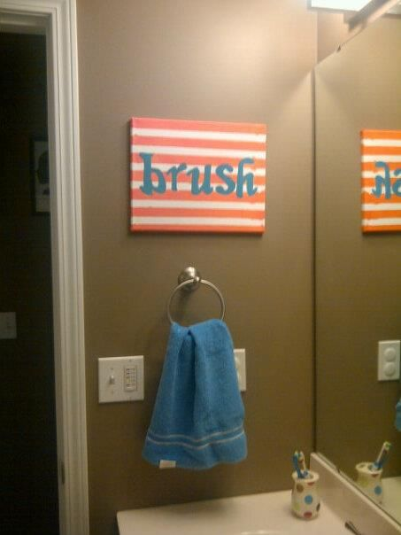 kids bathroom simple art idea they can help with | when i buy a ...
