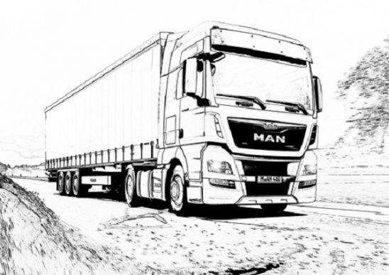 truck ausmalbilder em 2020  desenho de carreta
