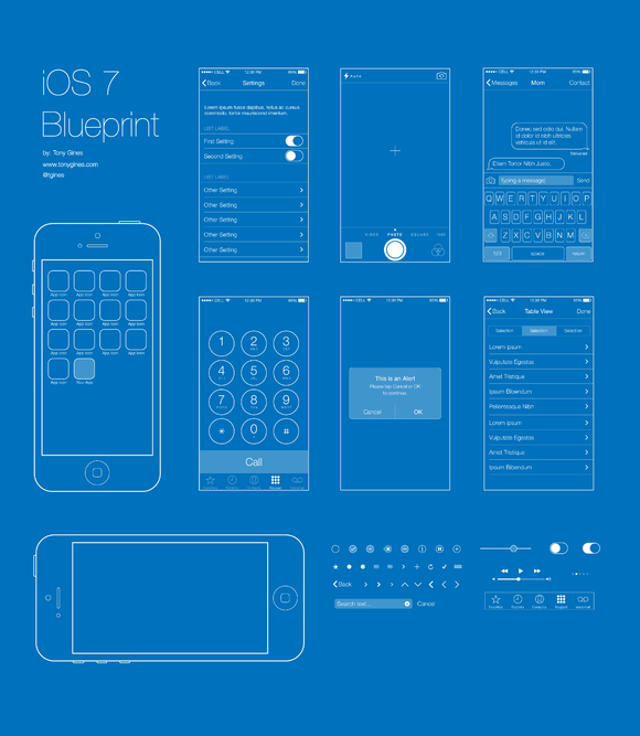 Ios 7 wireframe blueprint design inspiration pinterest ios 7 wireframe blueprint malvernweather Gallery