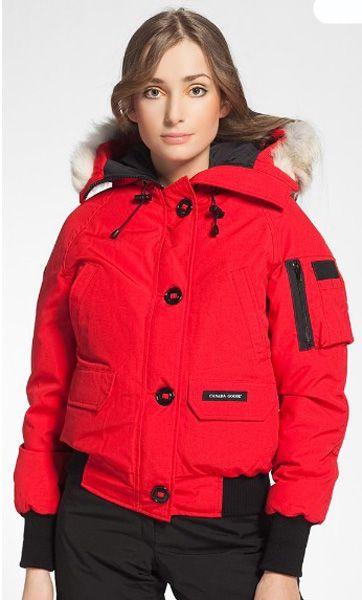 Claire Chilliwack Canada Rouge111 Pour Aviateur Femme Blouson Goose c8CAAwHxqR