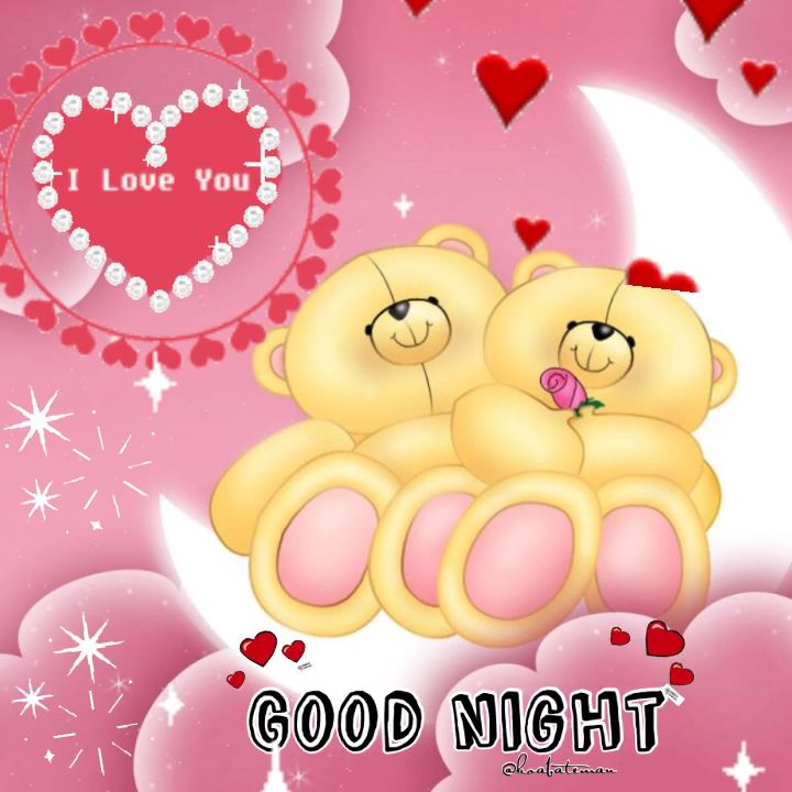 Good night/Buenas noches #goodnight #iloveyou #teddybear