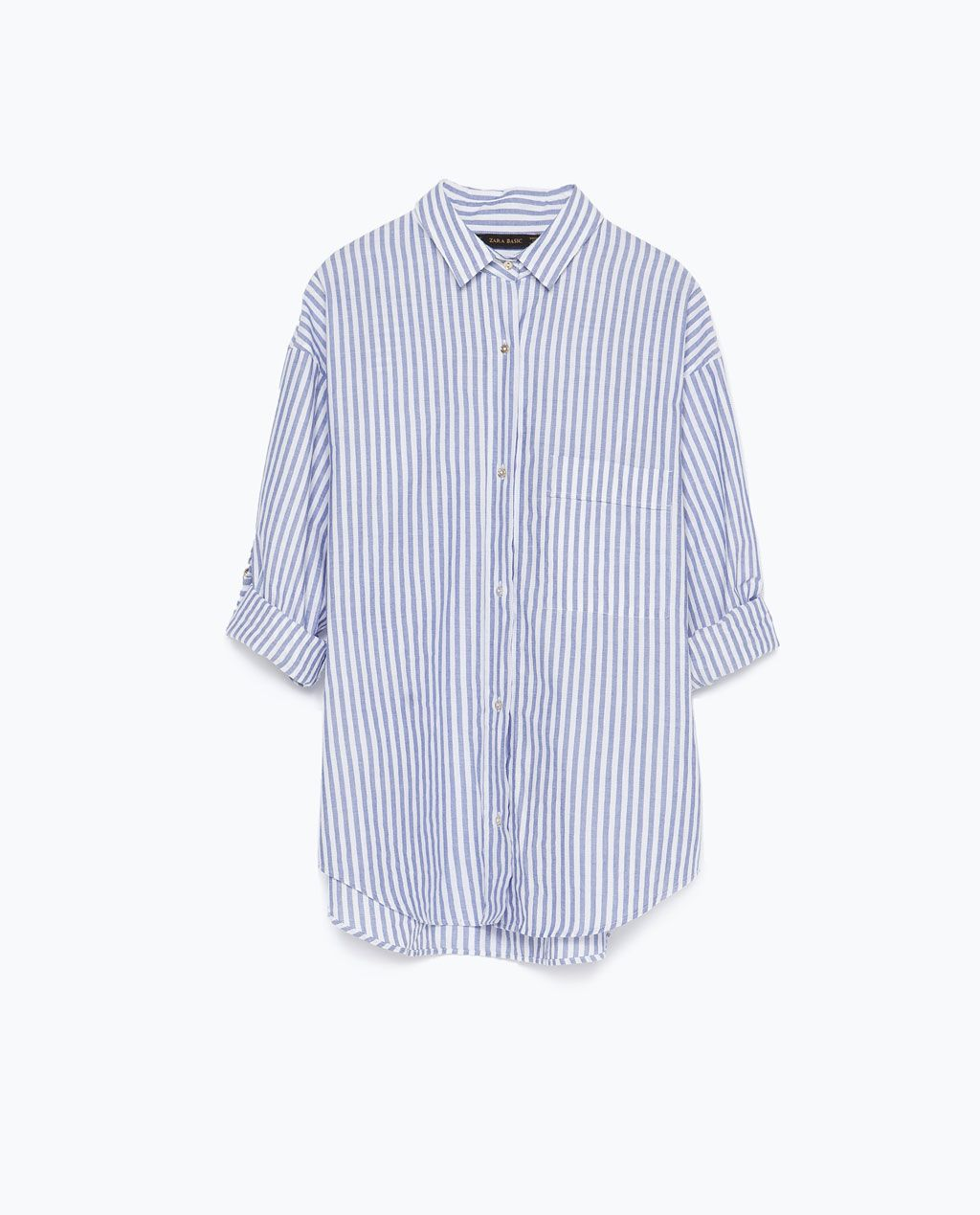 208d17610ff Image 7 of STRIPED COTTON SHIRT from Zara | Summer | Shirts, Women ...
