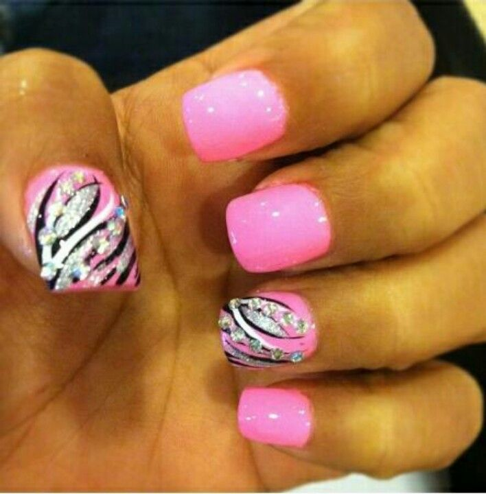 Amazing Pink Nail Designs for Women | Pinterest | Hot pink nails ...