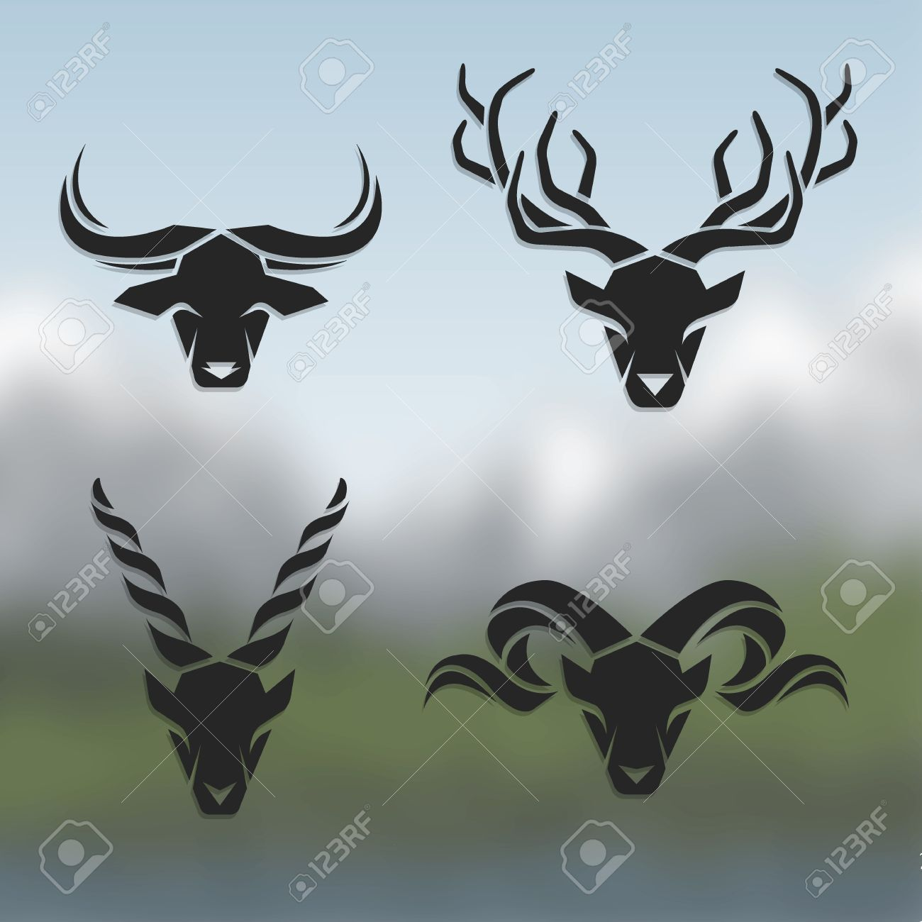 Mountain Goat Stock Vector Illustration And Royalty Free Mountain ...