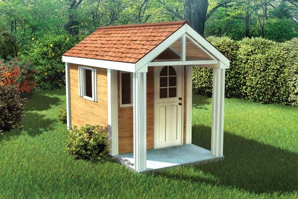 Plan 90033 4 X8 Childrens Playhouse Play Houses Build A Playhouse Childrens Playhouse