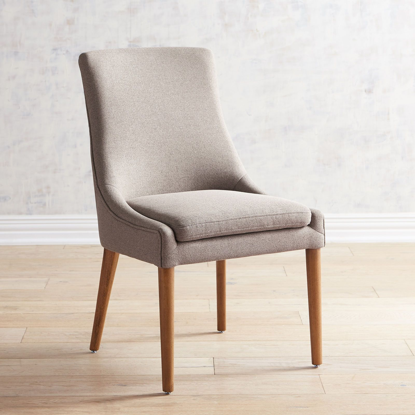 Enjoyable Darrin Taupe Dining Chair With Java Wood Boho Modern Short Links Chair Design For Home Short Linksinfo
