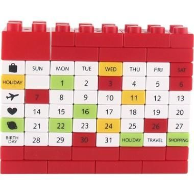Calendário Lego - DIY Puzzle Calendar Would work with a picture too maybe?
