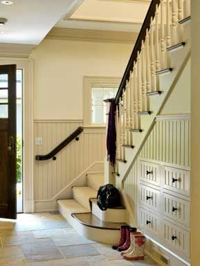 Love The Drawers Built Into Wall Under Stairs