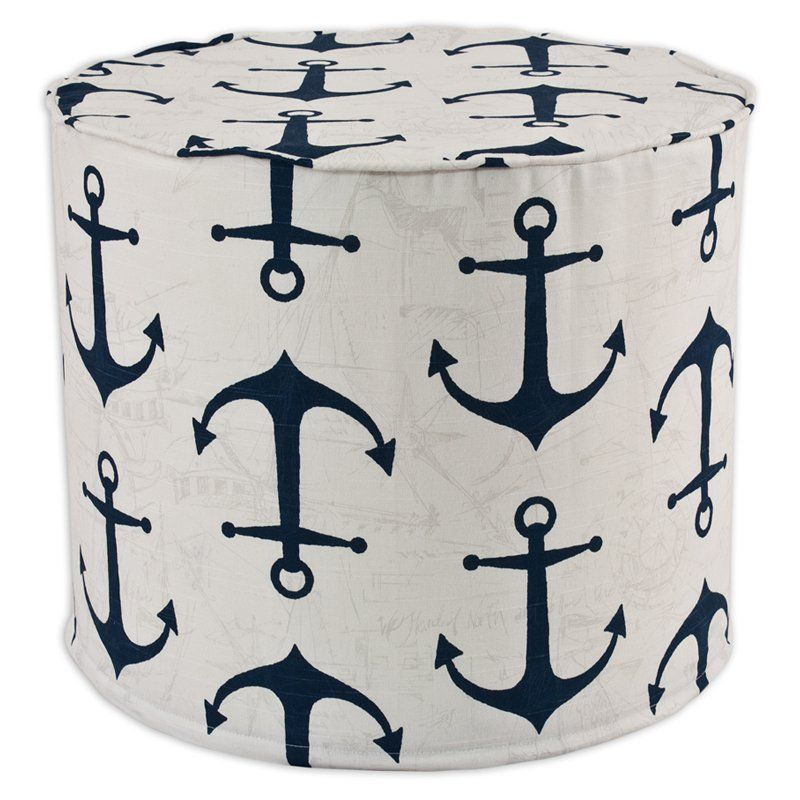 Brite Ideas Decorating Anchors Pouf Ottoman   BE20C9019