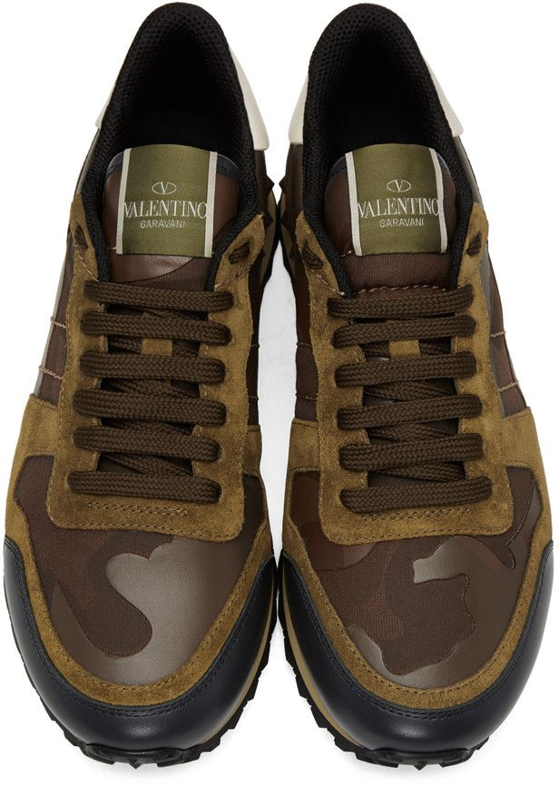 Explore Valentino Garavani, Mens Products, and more! Valentino - Brown Camo Rockrunner  Sneakers