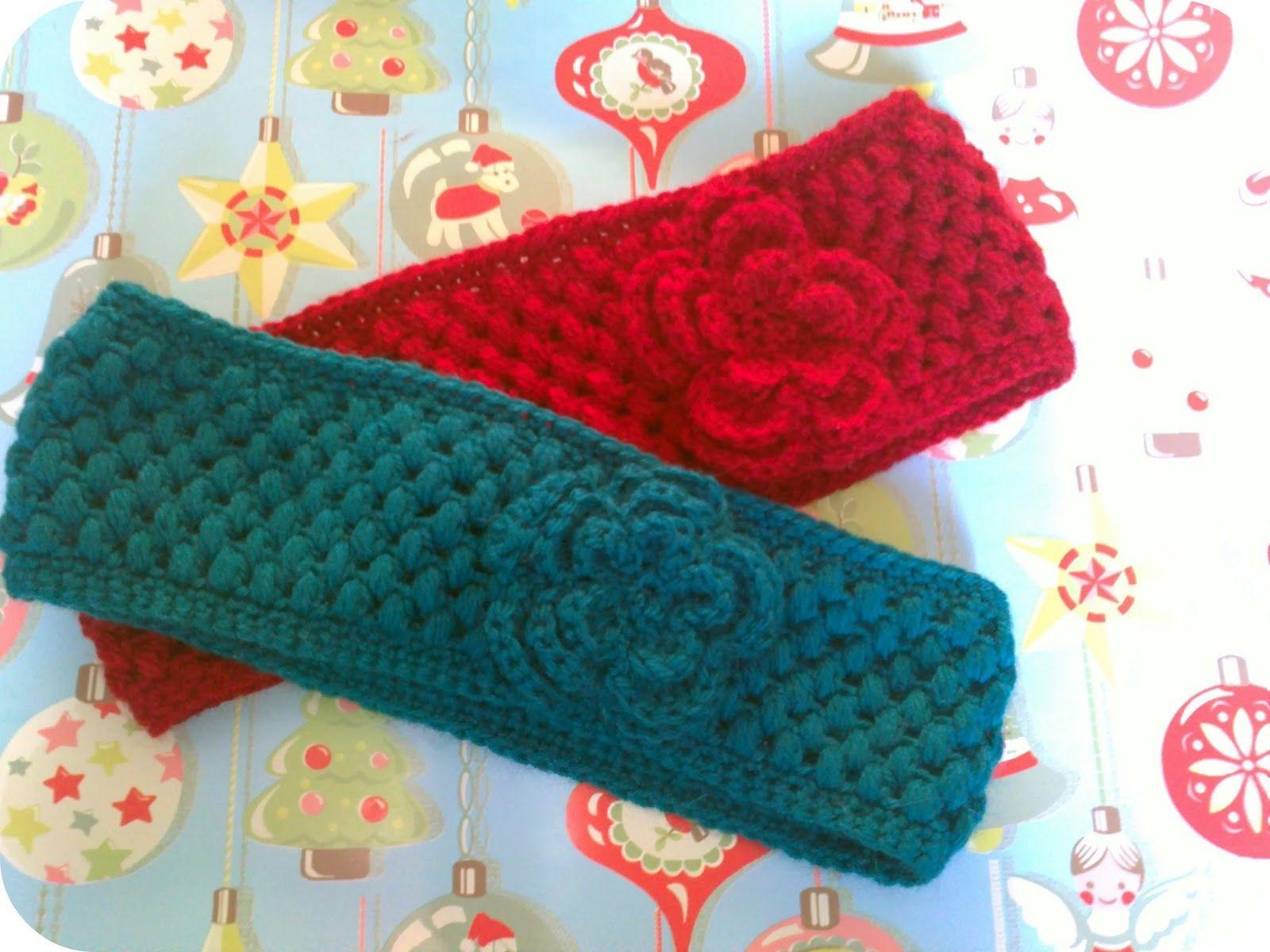 Two Girls Being Crafty: Crocheted ear warmer with flower | Crochet ...