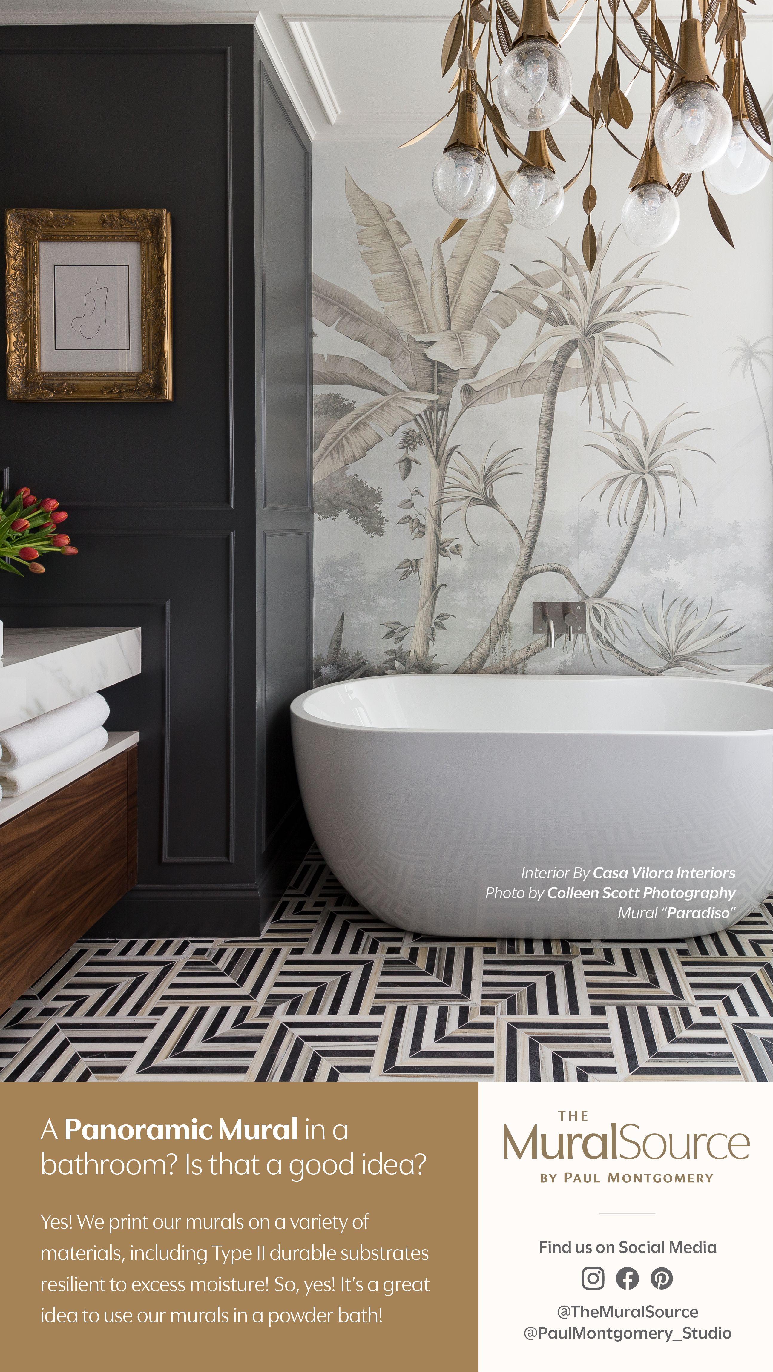 Bathroom Design Luxury Bathroom Mural