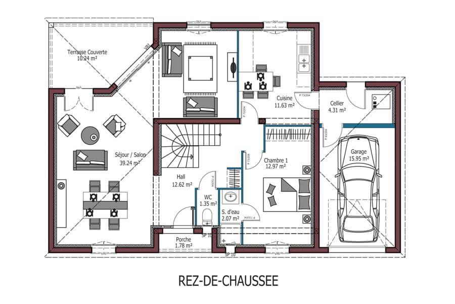 Modele Birdie Plan Maison 4 Chambres Avec 10
