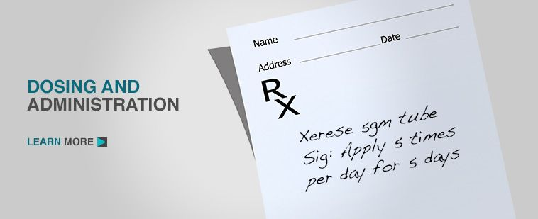 Dosing And Administration Xerese For Cold Sores Health Care