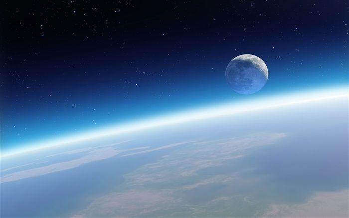 Tierra Y Luna Hermoso Espacio Fondos De Pantalla Imagen Wallpaper Earth Iphone Wallpaper Earth Hd Space
