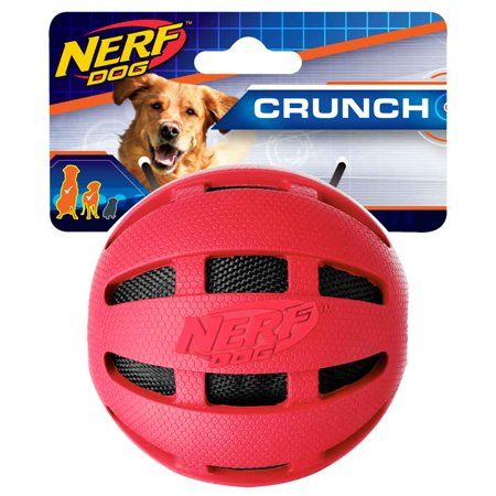 Interactive Dog Toys Exercise Nerf Checker Crunch Interactive Dog Toy Ball, Red, 3.8 Inch - Walmart.com