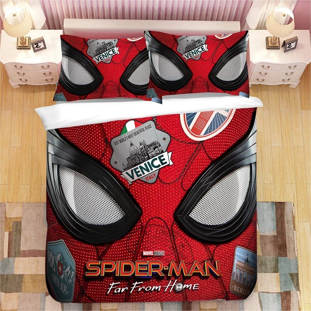 Spider Man Far From Home Bedding Quilted Duvet Cover Print Bedding Men S Bedding