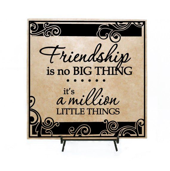 Friendship Quote Appreciation Plaque Thank You Gift Friend Hard Time Big Thing Wood Fr