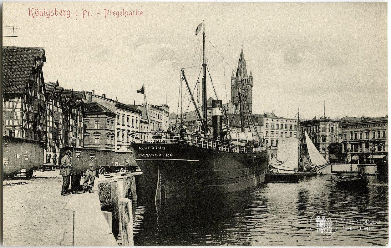 Кёнигсберг. Набережная Лаака. Фото ок. 1910 года.