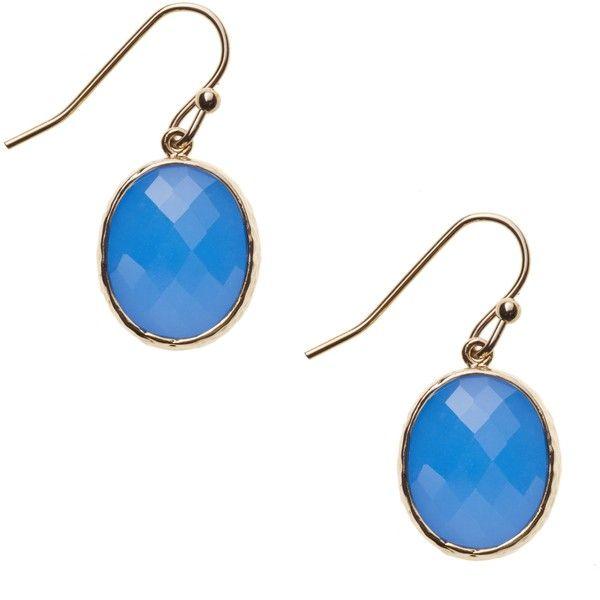 Maysa Oval Drop Earrings ($31) via Polyvore