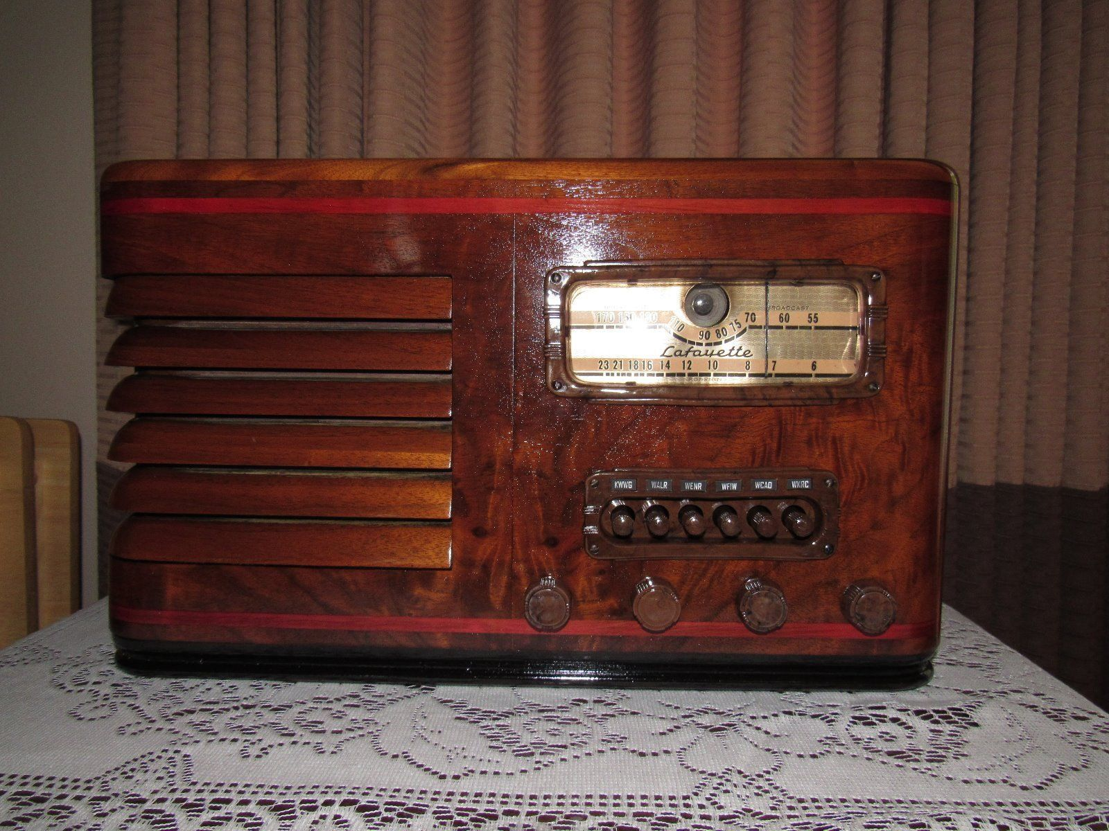 1936 General Electric Floor Radio Antique Philco Lowboy