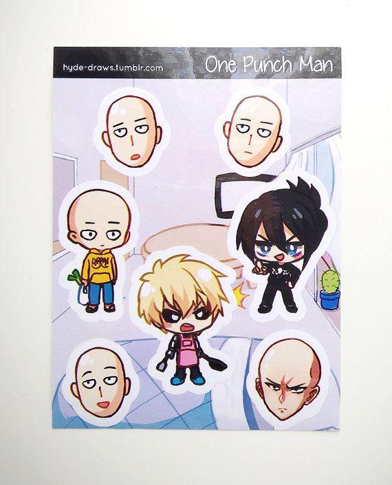 Te koop: Een Punch Man 3 x 4 kus gesneden Sticker vel