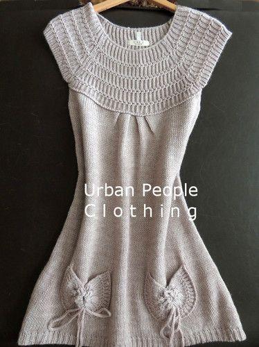 Cozy Sweater Dress s M Anthropologie Earring Urban People Clothing Free Spirit | eBay