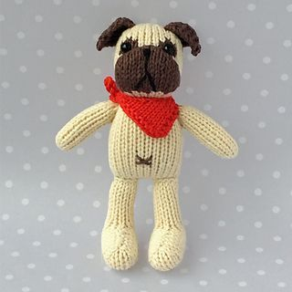 Petra's Pug pattern by Louise Crowther | Pug toy, Knitting ...