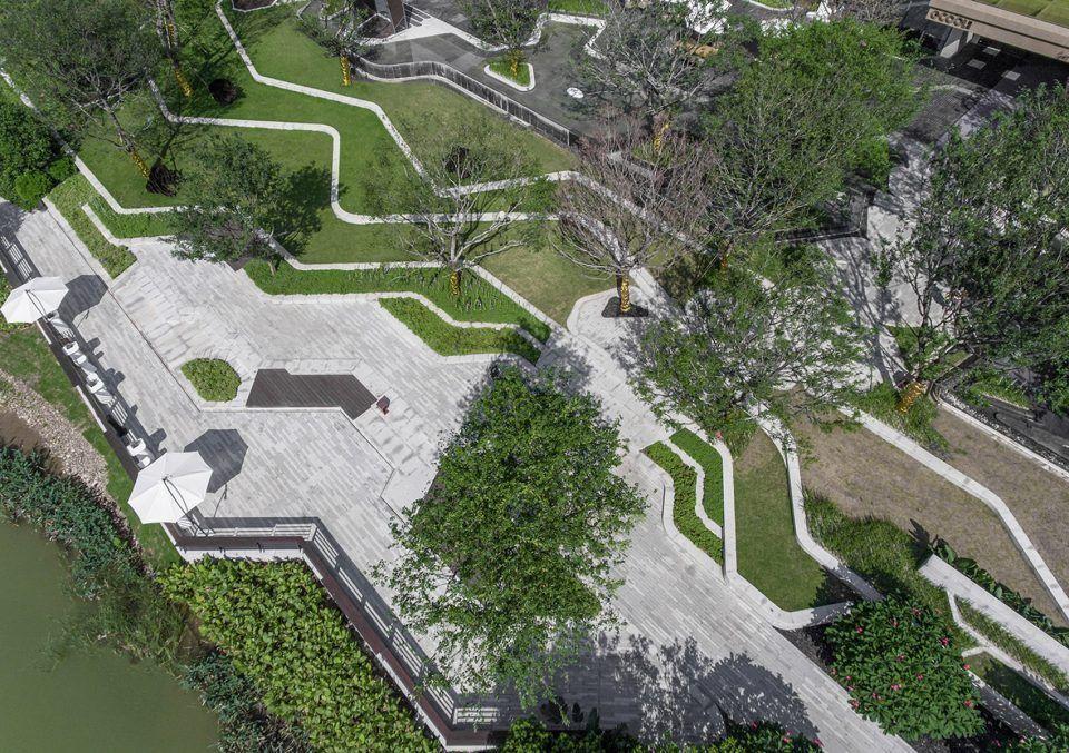 Cmpd Jinshangu Creative Office Park By Jialian Design 谷德设计网 Landscapepark Landscapesketch Landscape Plans Landscape Design Park Landscape