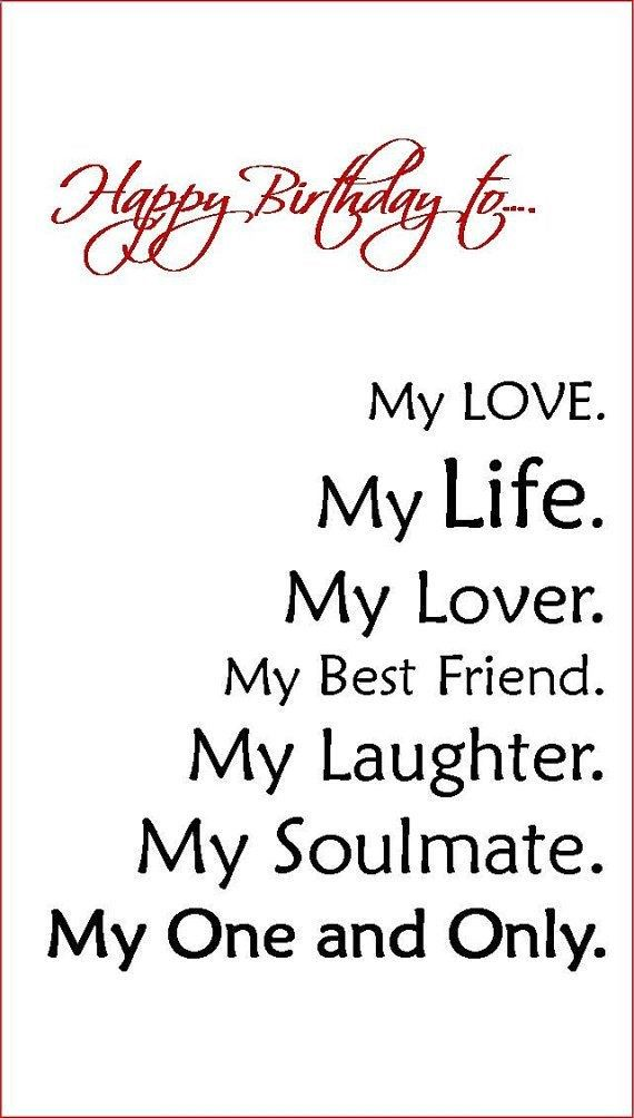 Birthday Quotes For Husband Fair Boyfriendfiancehusband Birthday Cardlinsartwork On Etsy $495