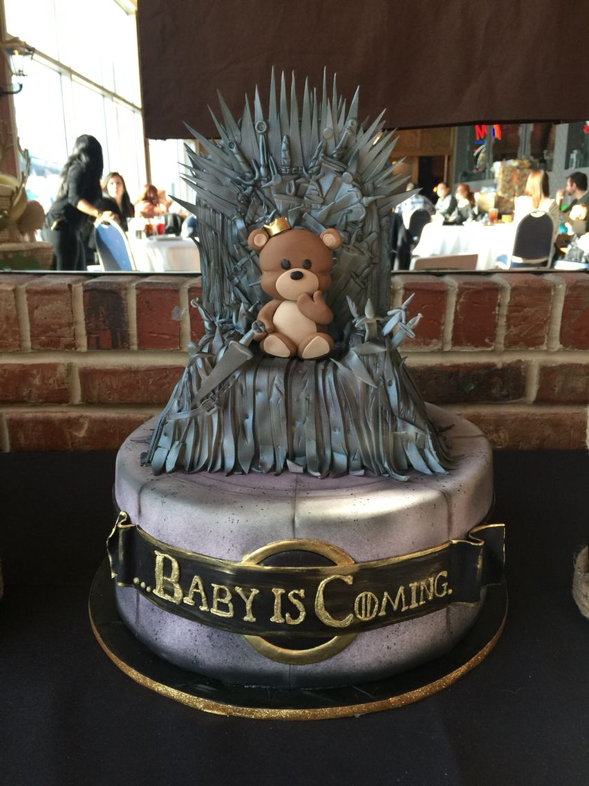 game of thrones baby shower cake game of thrones baby. Black Bedroom Furniture Sets. Home Design Ideas