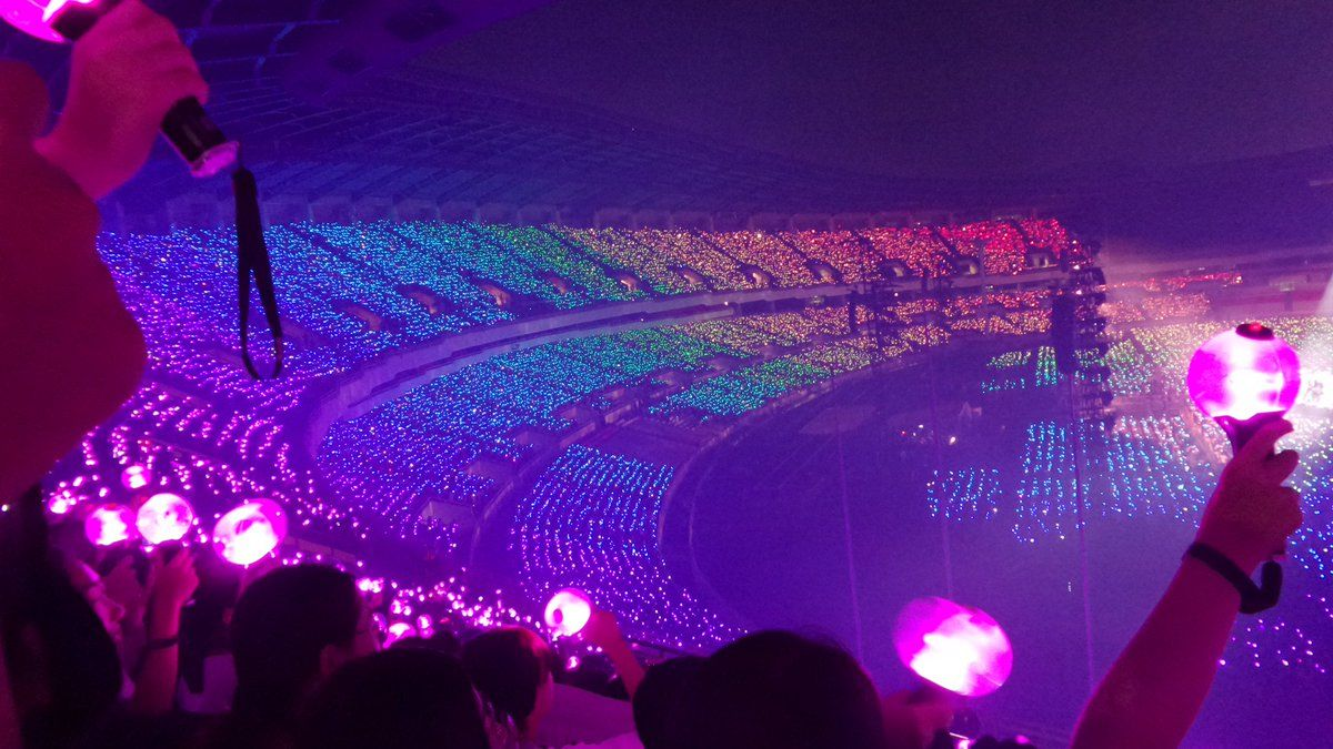 Army Bomb rainbow ocean | BTS | LOVE YOUSELF World Tour | Bts world tour, Bts army bomb, Bts concert