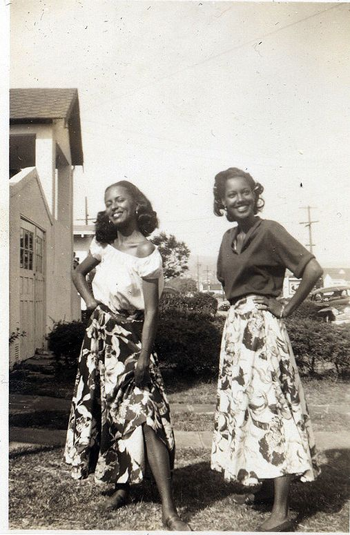 5aafd01f906 waheedpix: Sisters in Skirts 1950's [Donated | A walk down memory ...