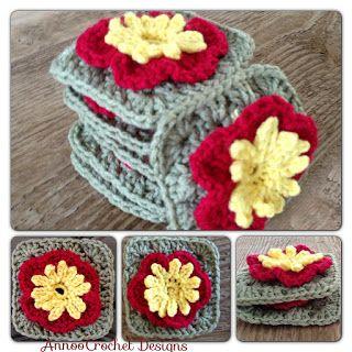Annoo's Crochet World: Rose of Sharon Granny Free Pattern