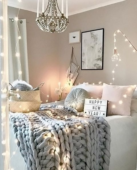 A Gorgeous Grey And Pink Bedroom Is To Me Home Decor Bedroom