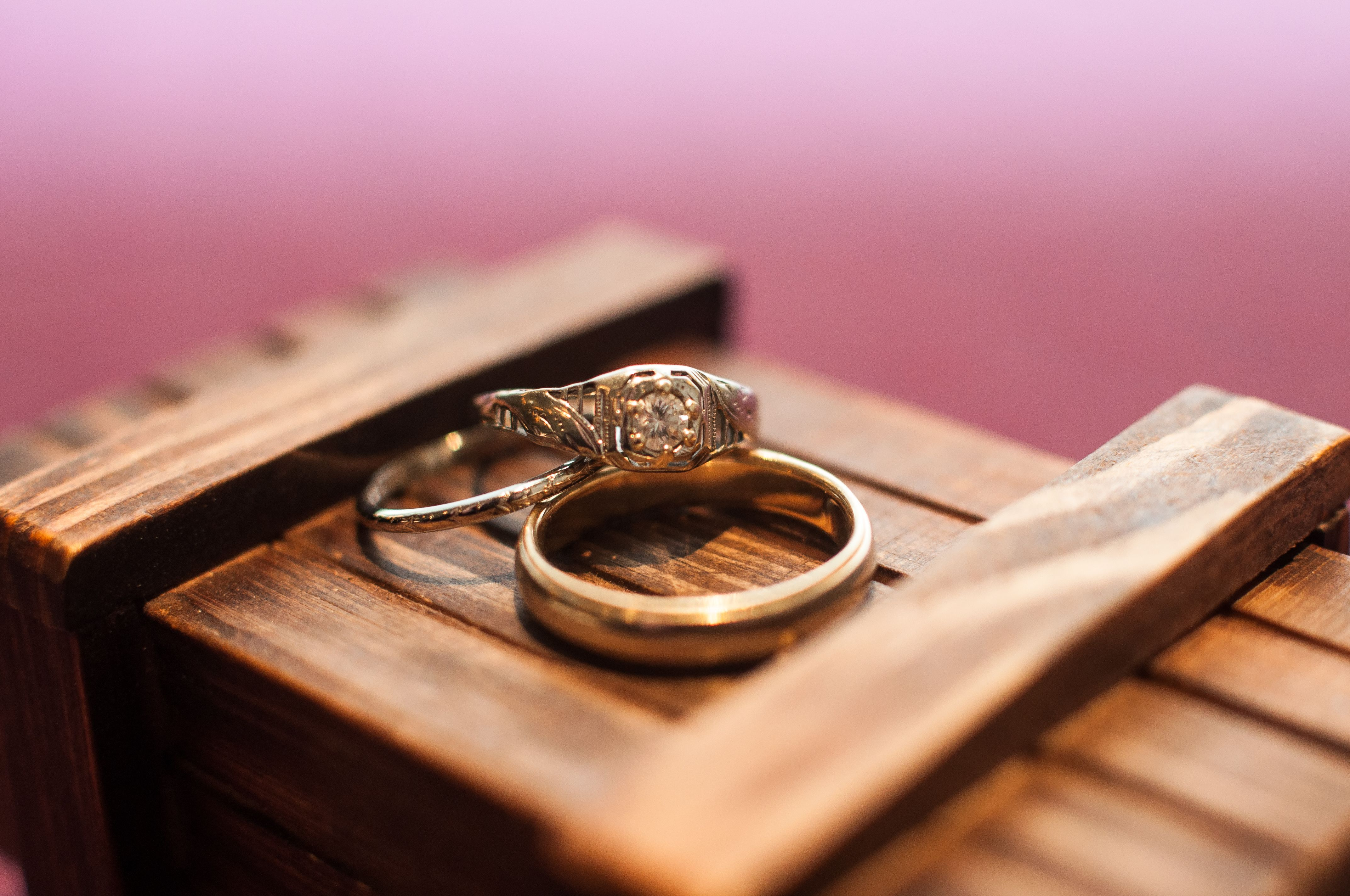 This groom made a delightful trick box to keep the rings safe before ...