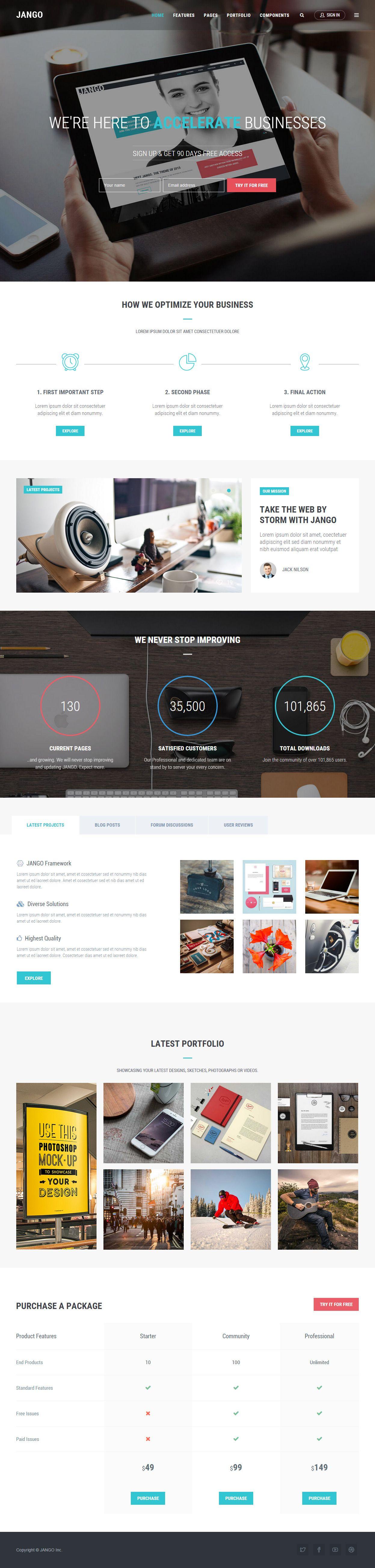 Jango Premium Responsive MultiPurpose HTML5 Template