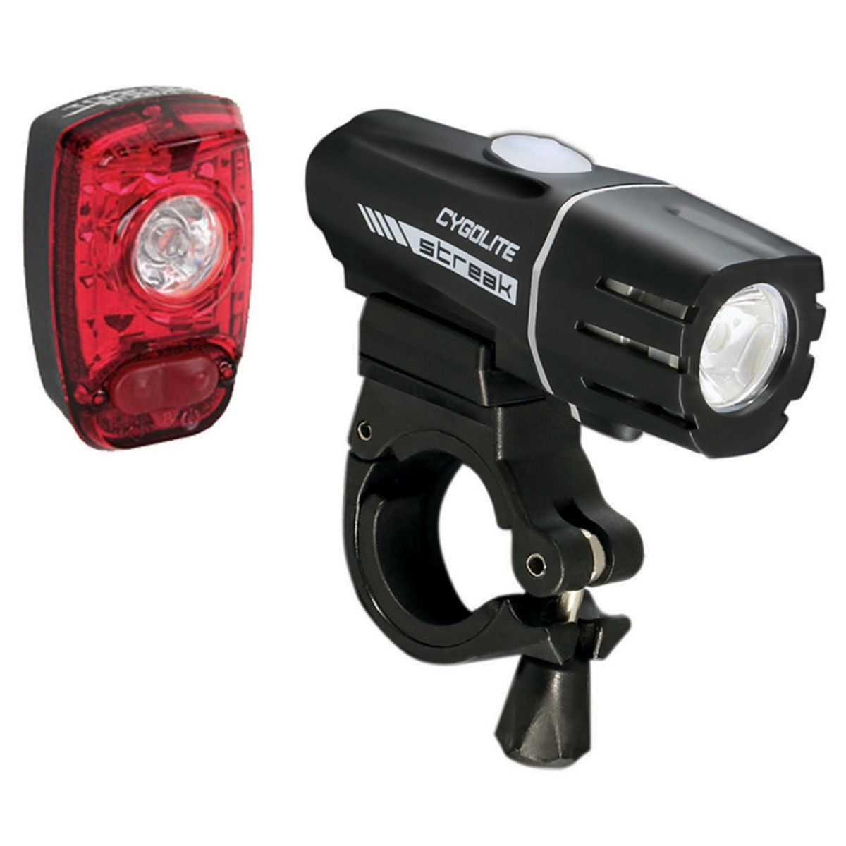 CYGOLITE Streak 310 Lumens Headlight Tail Light USB Bike Bicycle Black NEW!