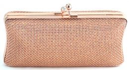 5a62b50ae5cc7 Clutch Rose Gold. Bolsa de festa metalizada no tom rosé. | My closet ...