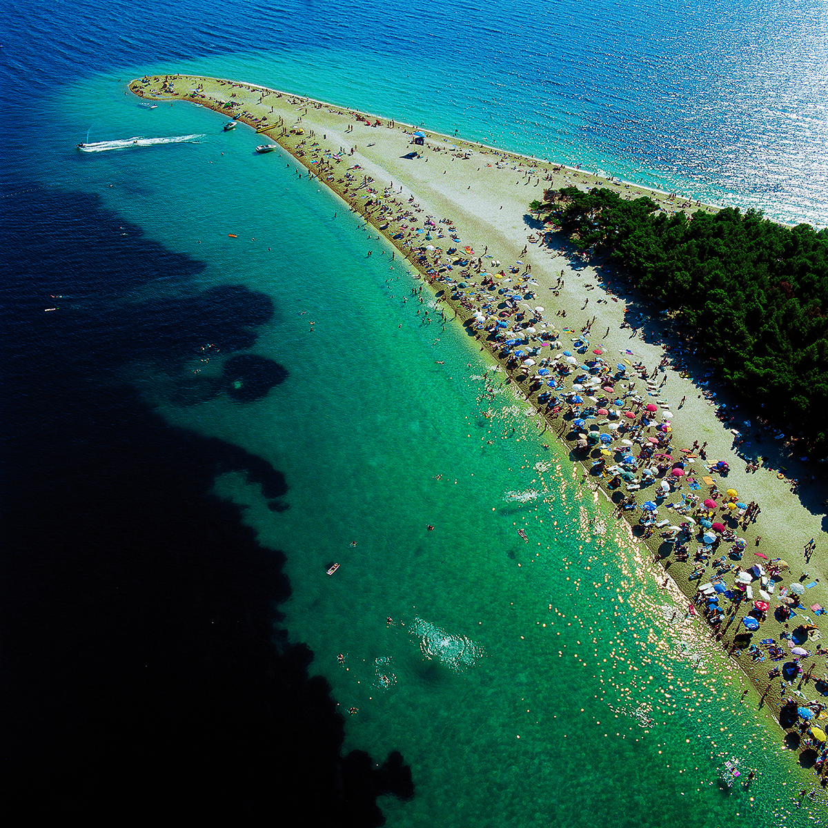 Beach Island: Zlatni Rat (Golden Cape) Beach Island Of Brač (Croatia