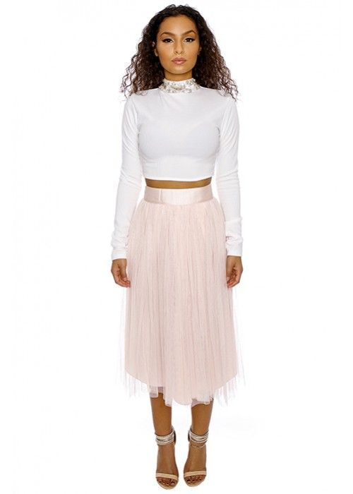 Embellished Bow-Tie Cropped Top