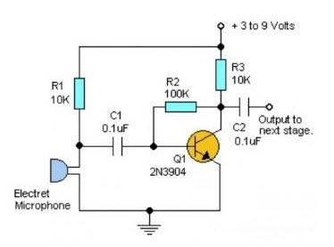 Simple Audio ‪#‎PreAmplifier‬ circuit is an electronic