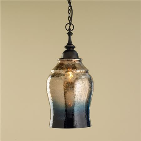 mercury glass lighting fixtures. gold and indigo mercury glass pendant light like a warm sunset sky over water lighting fixtures
