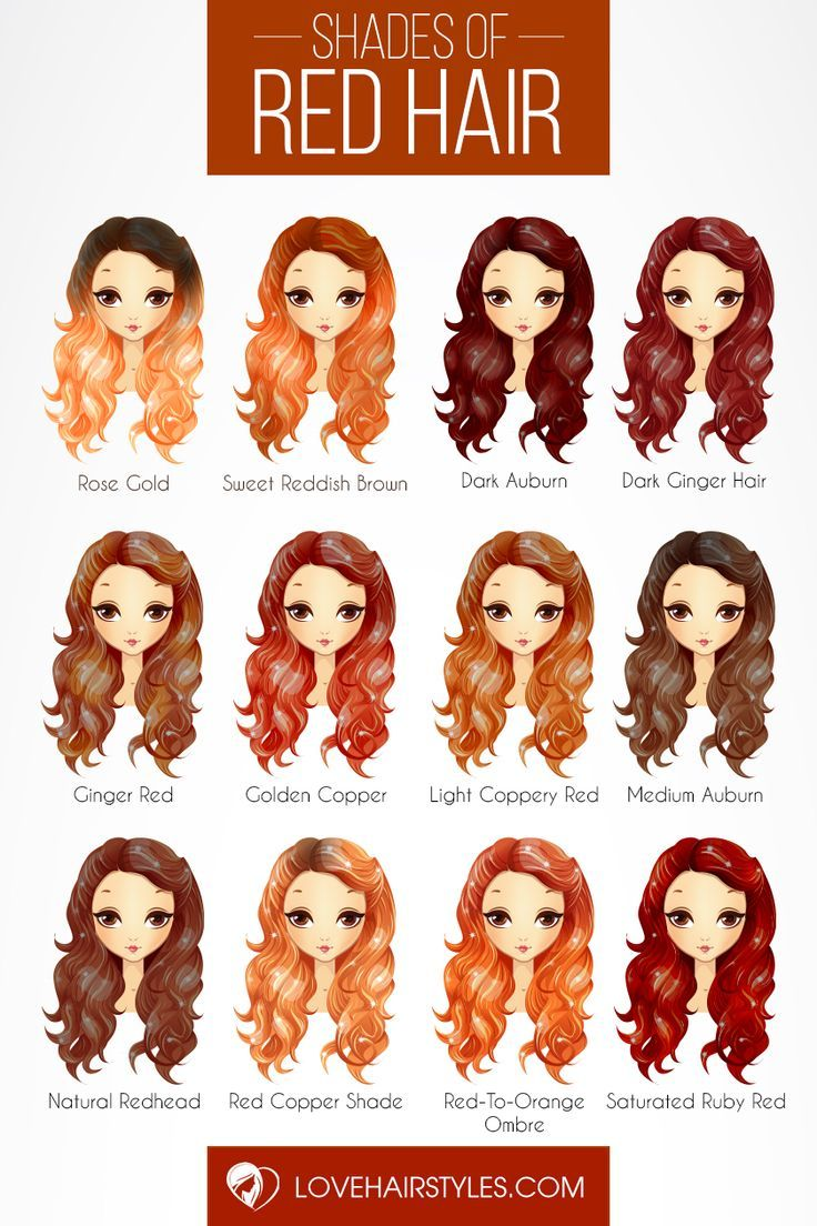 Magnificent Shades Of Red Hair Color Palette Discover The Red Hair Color Cha Redhair Redhaircol Shades Of Red Hair Hair Color Chart Hair Color Auburn