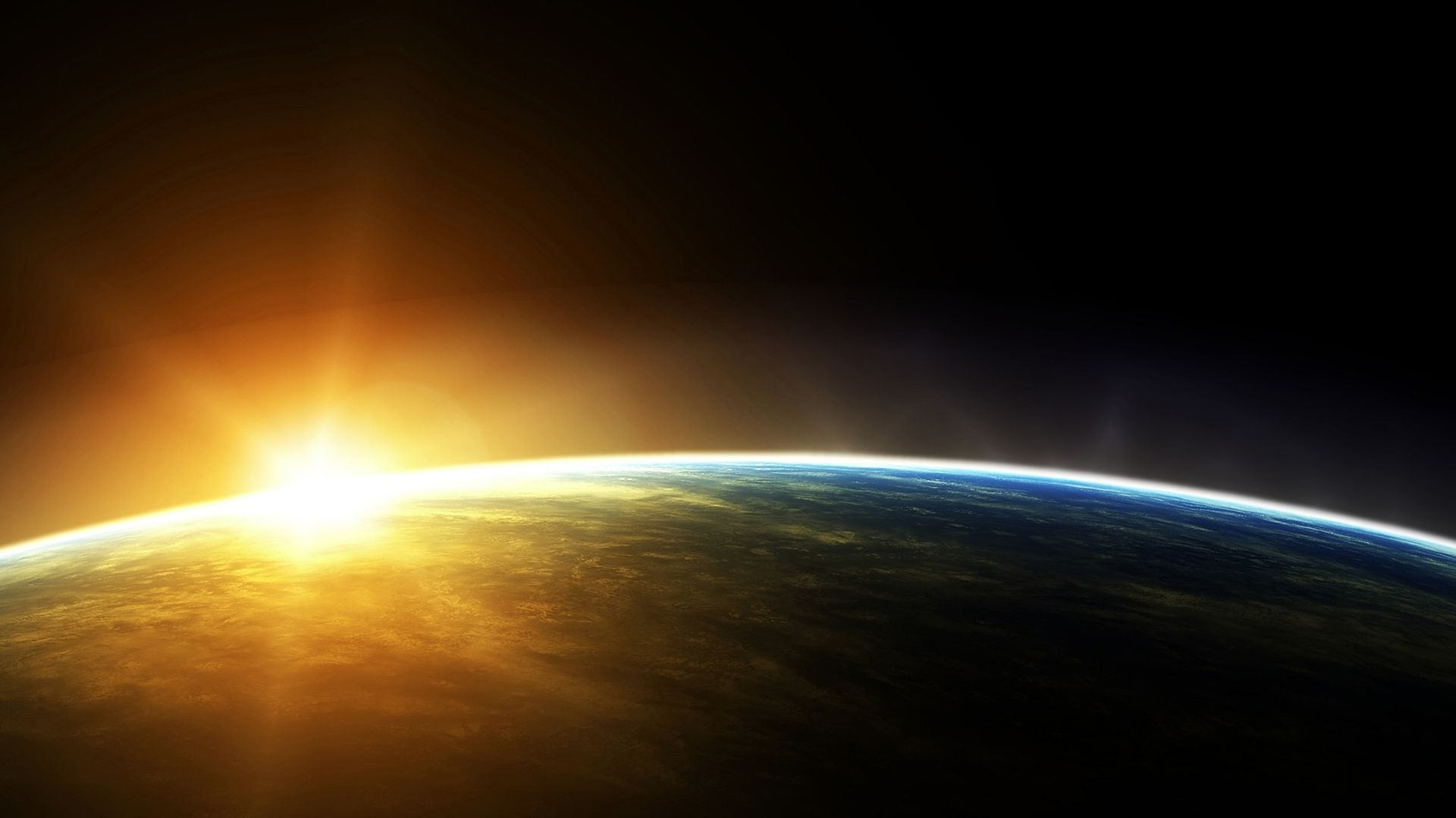 Nasa Space Earth Sunrise From Space Nasa Hd Wallpaper Full Hd