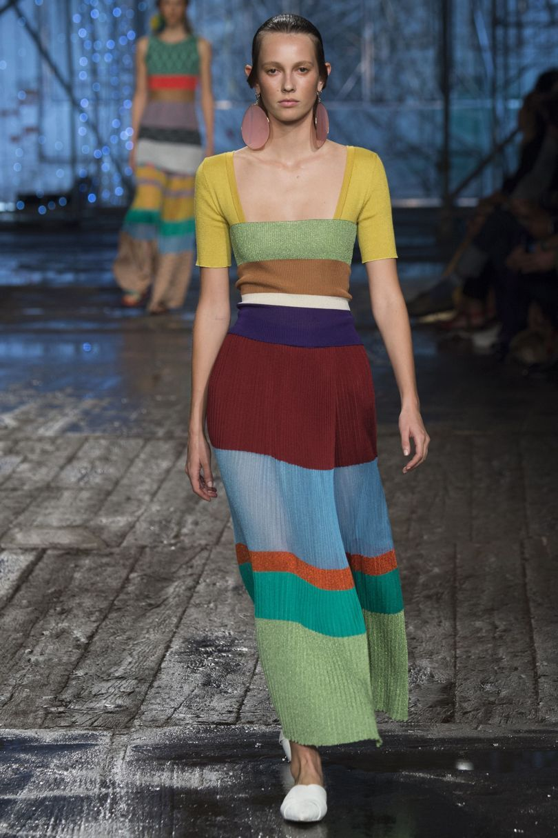 Missoni SS17 - Colorfull Dress with stripes