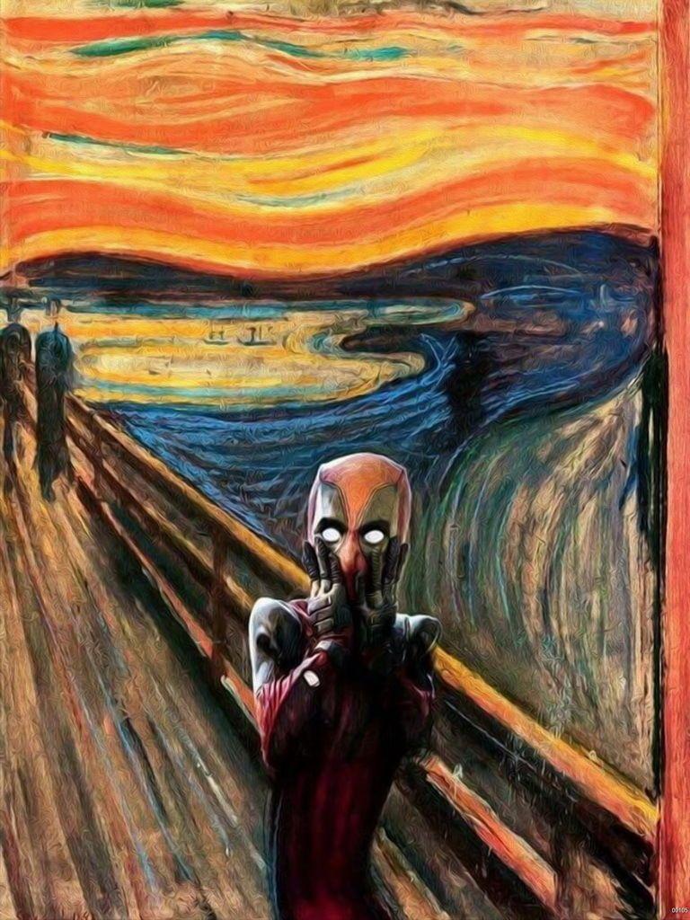 THE SCREAM DEADPOOL IMAGE Poster Laminated Gloss Print New